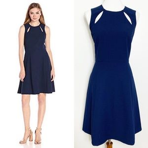 Catherine Malandrino Bird Dress Georgian Navy